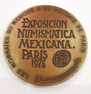 Medal Copper Exhibition Numismatica Mexicana Paris 1976.AD3781