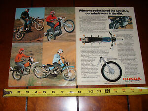 1976 honda xl 125 xl 175 xl 250 xl 350 original 2 page. Black Bedroom Furniture Sets. Home Design Ideas