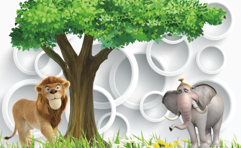 Papel Pintado Mural De Elefante Vellón Elefante De Y León 2  Paisaje Fondo De Pantalla ES AJ bb5b32