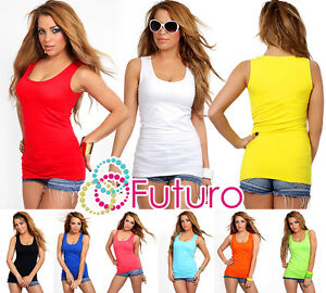 Plain-Natural-Cotton-Wrap-Top-Hot-Colors-Sleeveless-Size-UK-8-12-FK2065