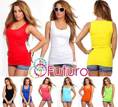 Plain Natural Cotton Wrap Top Hot Colors Sleeveless Size Uk 8-12 Fk2065 Entlastung Von Hitze Und Sonnenstich