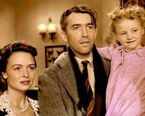 Details About Donna Reed James Stewart Its A Wonderful Life 8x10 Hand Color Tinted Photo