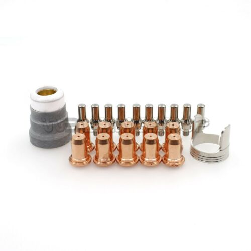 22pcs Plasma Electrode Tips Shield Cup Stand Off for PT-40 IPT-60 IPT-40 Torch