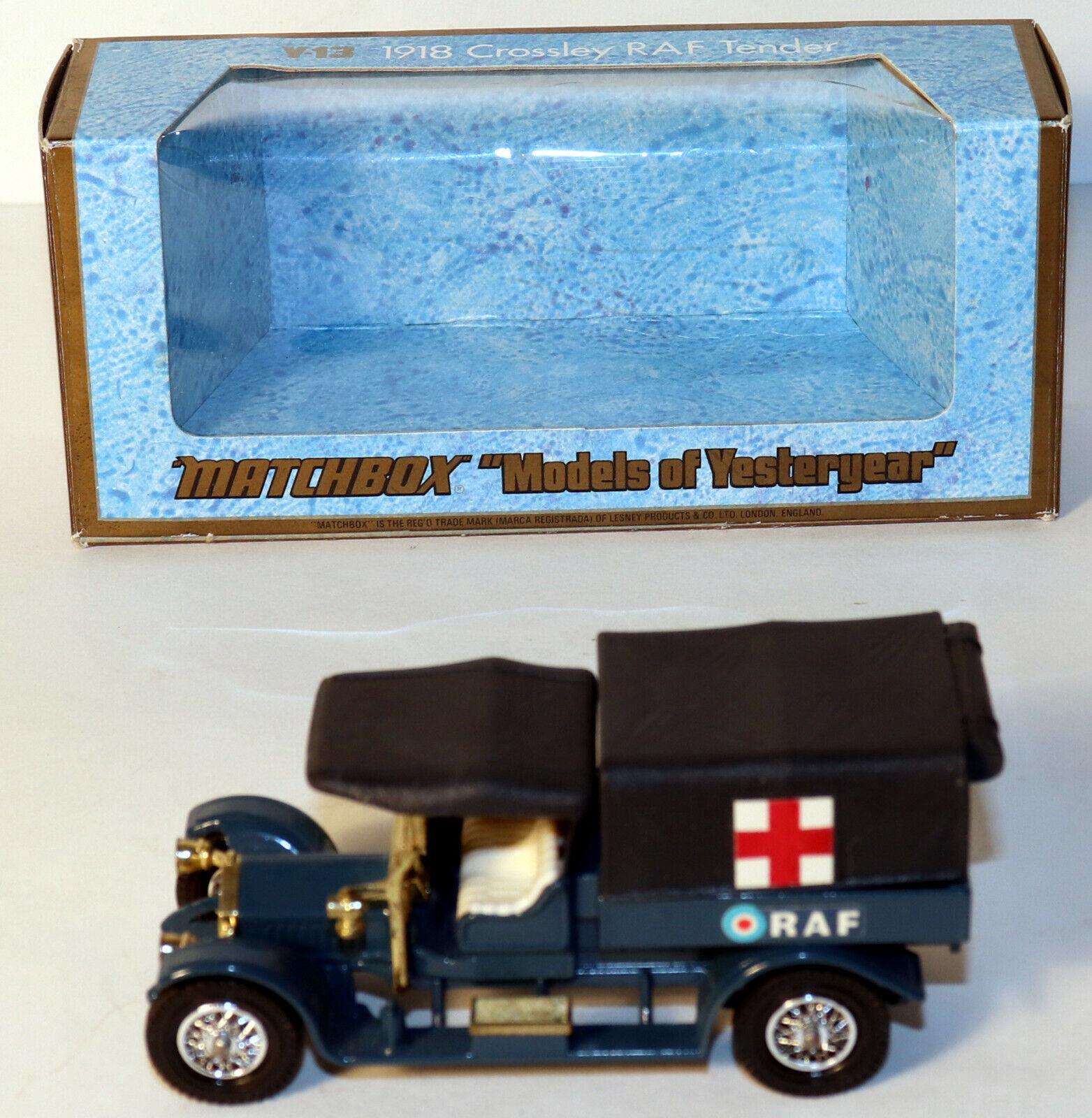 buena calidad DTE Lesney Matchbox Models Models Models Of Yesteryear Y-13 rara Techo Negro & dosel RAF Nuevo en Caja Original  Venta barata