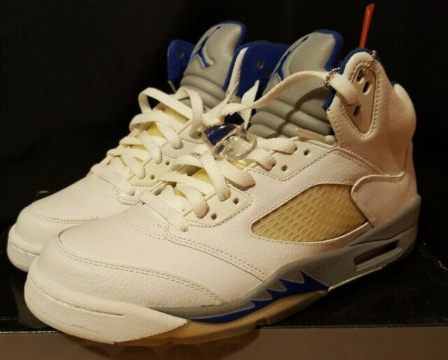 finest selection 82849 ef957 Nike Air Jordan 5 V Retro White Sport Royal Stealth 136027-142 Men Shoes 8.5