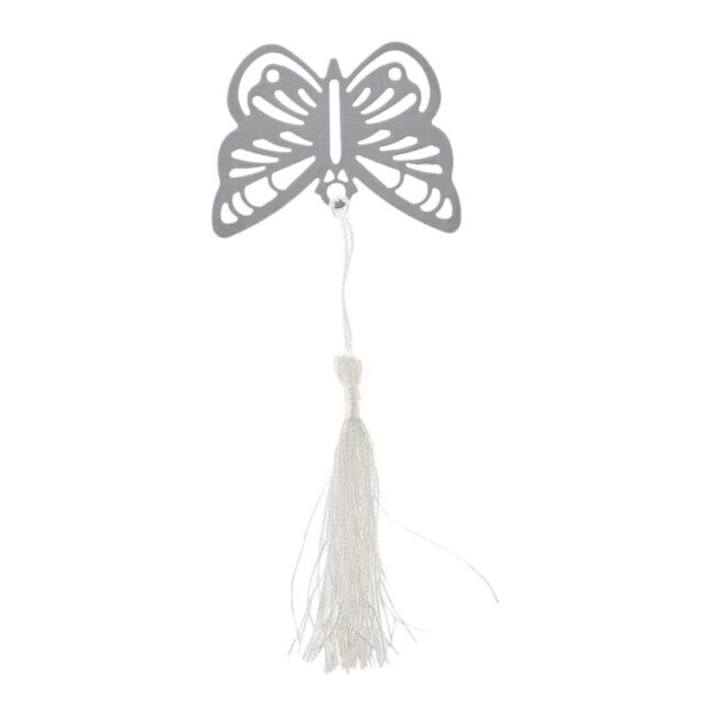 1X(Silver BUTTERFLY BOOKMARK Christmas XMAS Stocking Filler FAVOUR GIFT Bo F5U7)
