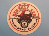 Beer Bar Coaster North Coast Brewing Red Seal Ale Mendocino, California