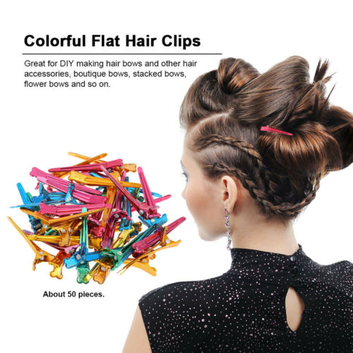 Details about  /50Pcs Prong Alligator Hair Clips Barrette For Bows DIY Accessories Hairpins E7O2