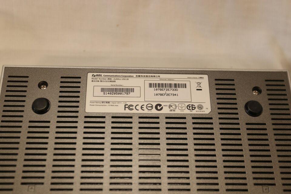 Router, Zyxel USG 20, God