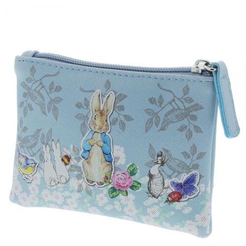 UFFICIALE Beatrix Potter Peter Rabbit blu zip portamonete stile vintage
