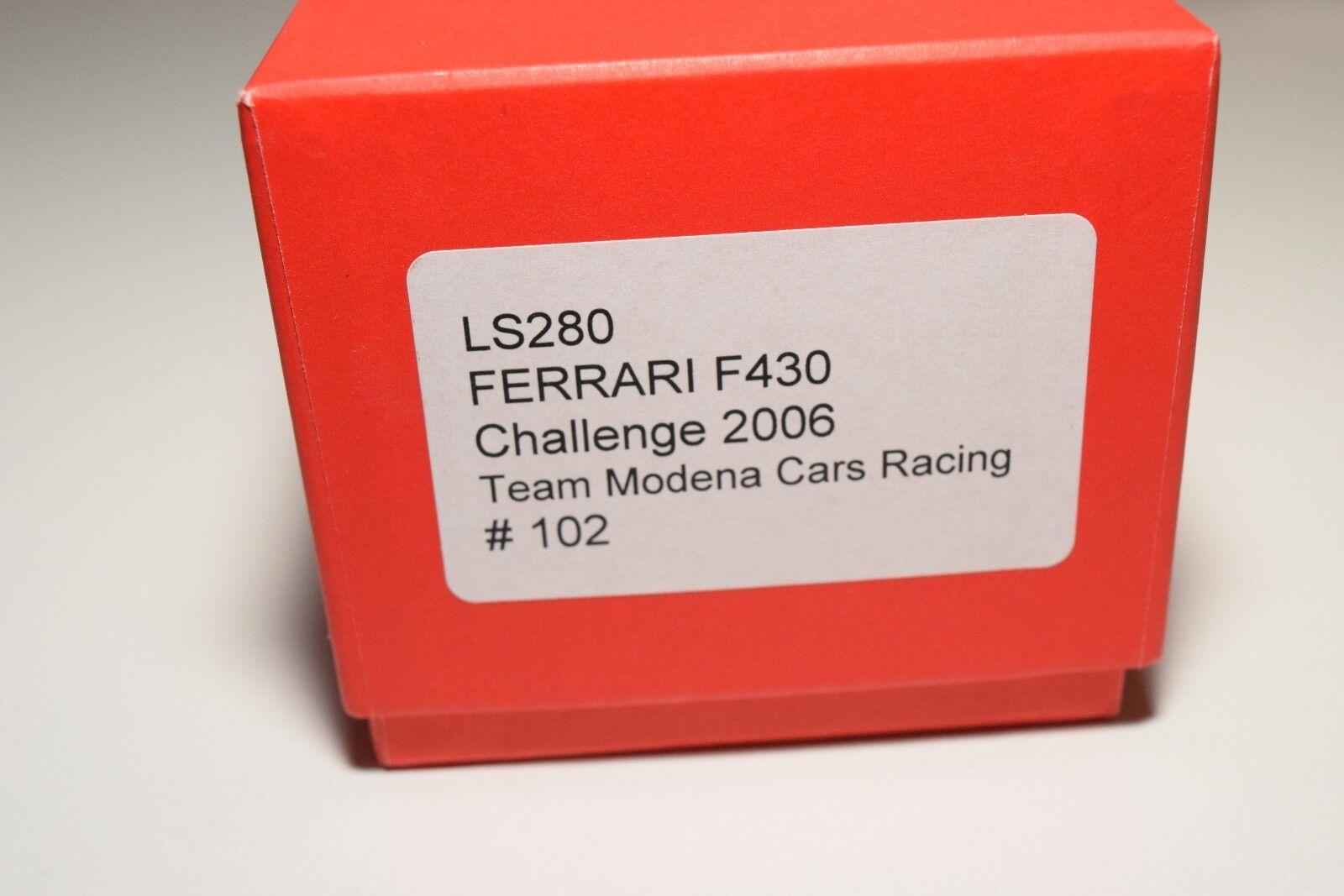 V 1 43 LOOKSMART LOOKSMART LOOKSMART LS280 FERRARI F430 F 430 CHALLENGE 2006 TEAM MODENA MIB RARE 3d9612