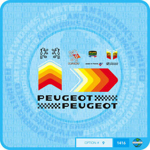 Peugeot Bicycle Frame Stickers Decals n.157