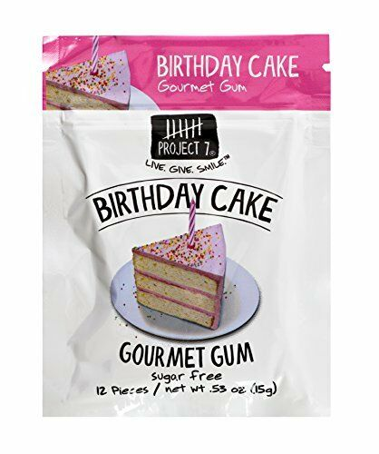 Astounding Project 7 Sugar Gum Birthday Cake 12 Count Pack Of 12 For Sale Personalised Birthday Cards Cominlily Jamesorg