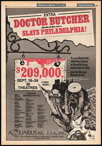 DOCTOR-BUTCHER-ZOMBIE-HOLOCAUST-Orig-1981-Trade-AD-promo-poster-UNCONSCIOUS