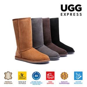 【EXTRA20%OFF】UGG Boots Women Men Boots Tall Classic Double Face Sheepskin