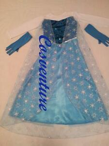 SALE-Divine-Elsa-Dress-Costume-with-GLOVES-Book-Week-Christmas-Frozen-PARTY