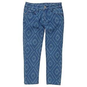 Girls-BNWT-Folkloric-Journey-Print-Blue-Denim-Stretch-Jeans-Size-1-3-4-5-6