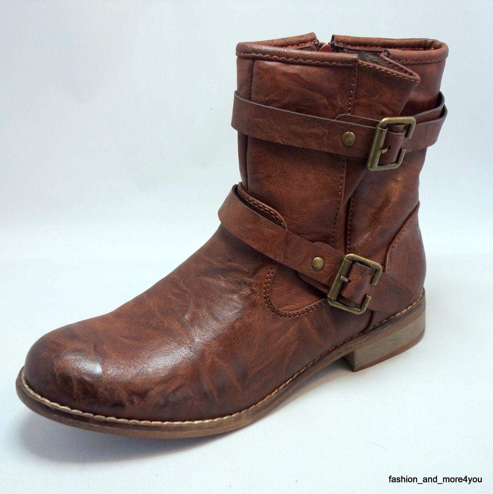 Rieker chice & bequeme Boots Stiefeletten mit Warmfutter Gr.40 braun used Neuஜ