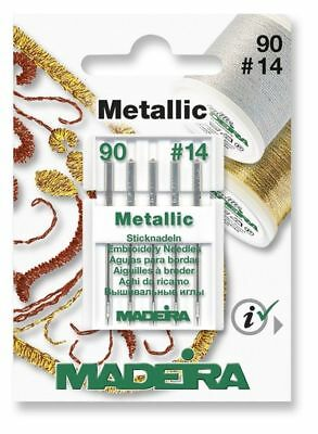 100//16 5 Stück 9457 Madeira Maschinensticknadel Jeans Nadel 90//14