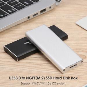 M-2-Festplatte-Gehaeuse-USB3-0-zu-NGFF-SSD-Adapter-M2-Externes-Festplattengehaeuse