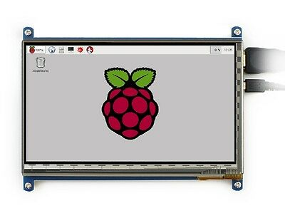 """7/"""" Capacitive Touch Screen LCD Display IPS 1024x600 HDMI For Raspberry Pi//BB New"""