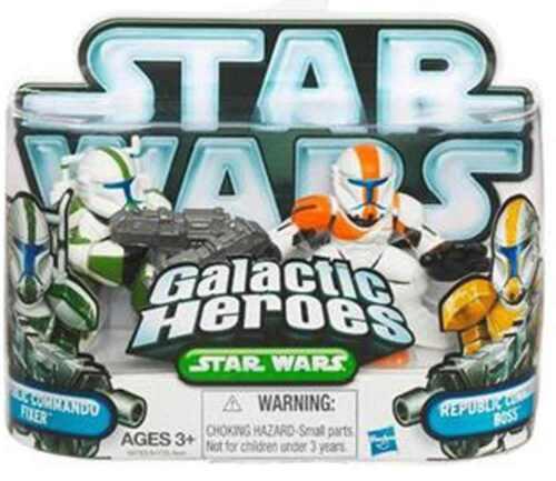 STAR WARS Galactic Heroes Republic Commando/'s Fixer /& Boss action figure