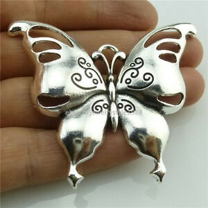 14004 2pcs Large Alloy Vintage Silver Tone Animal Butterfly Insect Pendant Charm Ebay