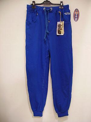Tom Caruso Pantalone Tuta Felpa Invernale Blu S Le Materie Prime Sono Disponibili Senza Restrizioni