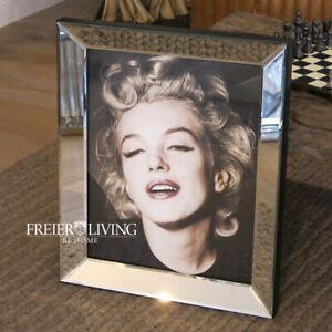 Marilyn Monroe Wandbild Druck mit Rahmen Spiegelrahmen Foto 50s Syle super Deko