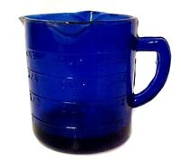Cobalt Blue 3 Spout Measuring Cup Reproduction Depression Glass Kitchen