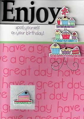 LUXURY NEW 3D HANDCRAFTED BIRTHDAY CARDS CUP CAKES CARD