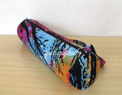 New Forest Dry Tree Mandala Tie Dye Yoga Mat Bag With Shoulder Strap Carrier Bag