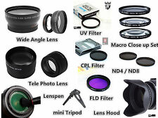 Z104u TELE + Wide Lens / Filter / Hood / Pen / Tripod for Canon EOS 550D 18-55mm