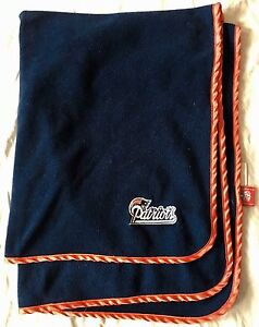 brand new 23fc2 5eeff Details about New England Patriots NFL Baby Receiving Blanket Blue Red  Fleece