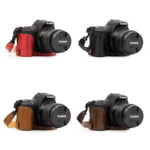 MegaGear Leather Case for Canon EOS Rebel SL3, SL2, EOS 250D, 200D