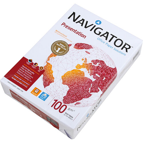 WHITE COPY COPIER PRINTING OFFICE BY NAVIGATOR A4 100GSM PREMIUM QUALITY PAPER
