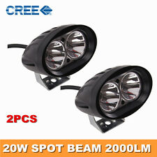 2 Pieces of 40 Watt Car / Bike Led Auxiliary Cree LED Fog Lamp White Light Spot