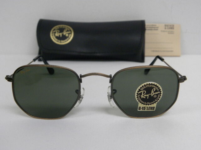 New Vintage B L Ray Ban Classic Collection III Antique Bronze W0973 Aviator  USA 491b47011e27