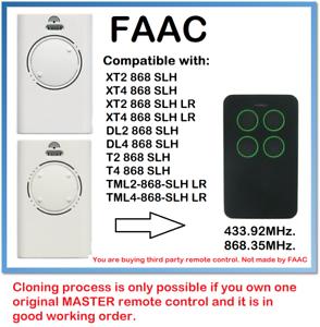FAAC T2 868 SLH FAAC T4 868 SLH Compatible Remote control 868.35 MHz.