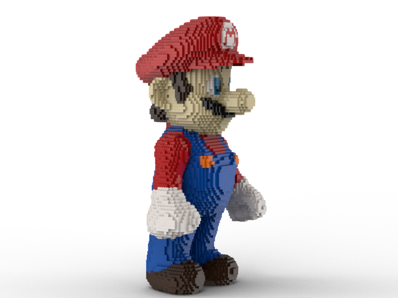 LEGO Super Mario statue building instruction instruction instruction 022f74