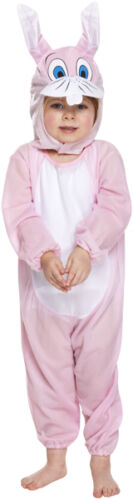 Toddler Girls Pink Easter Bunny Rabbit Book Day Fancy Dress Costume Outfit 3 yrs