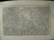 Carte d'État-Major Alençon Nord-Est 1894
