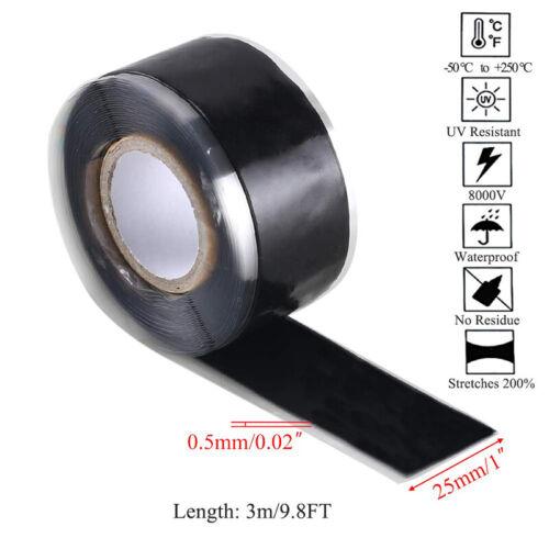 Silicone Rubber Sealing Tape Self-Adhesive Waterproof Home Roof Pipe Repair SA76
