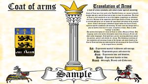 Whorrall-Worroll COAT OF ARMS HERALDRY BLAZONRY PRINT