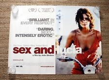 Sex and Lucia Quad Film Poster
