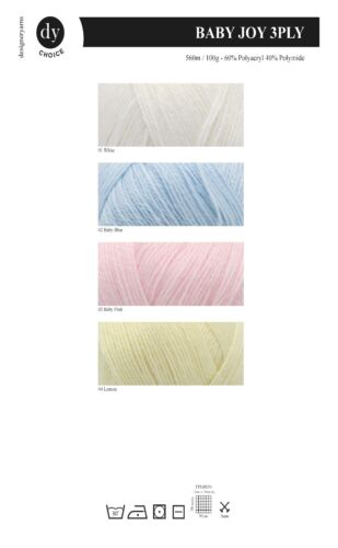 100g 60/% Acrylic /& 40/% Polyamide DY Choice Baby Joy 3 Ply
