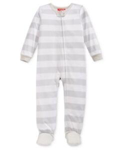 f78b4605ab Family Pajamas Baby Unisex Boys or Girls Neo Stripe Knit Footed PJ s ...