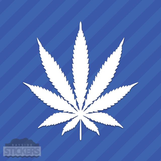 "Peace  Pot Leaf Cannabis Vinyl Decal Sticker 420 Marijuana Weed 4/"""