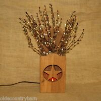 Electric Star Accent Light Berry Sprigs Barn Wood Handcrafted Olde Country Barn