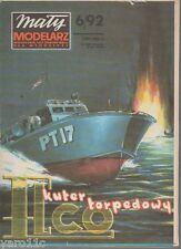 1/50 scale -  USS PT Patrol Torpedo Boat ELCO - MM paper model